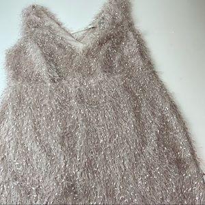 NEW ASOS Curve Pink Fringe Sleeveless Party Dress
